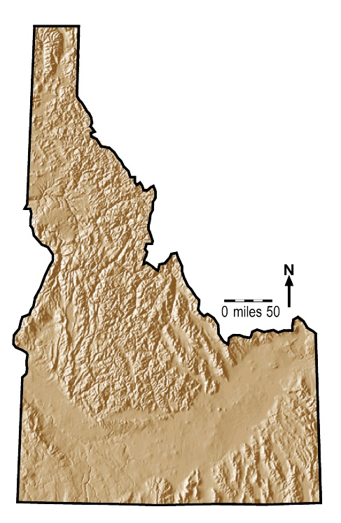 Idaho Outline Maps And Map Links - Physical map of idaho