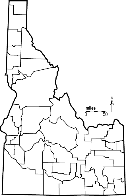 Idaho Map By County.Idaho Outline Maps And Map Links
