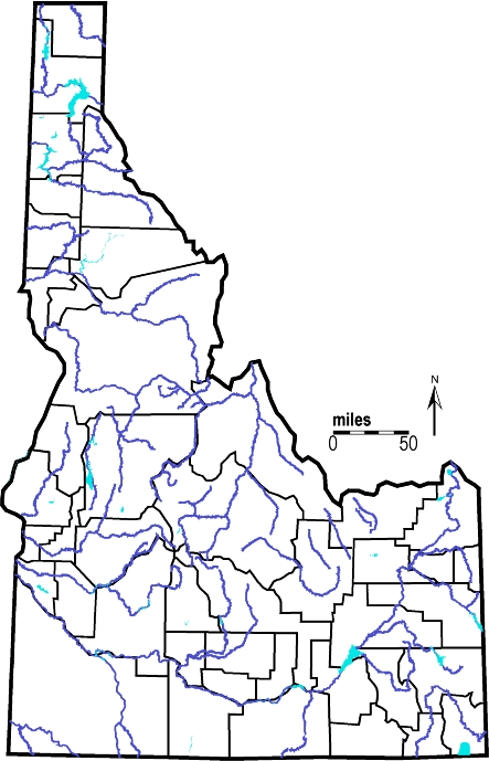 Idaho Outline Maps And Map Links - Idaho state map with cities