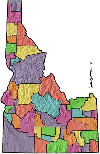 Idaho Map By County.Digital Atlas Of Idaho Counties