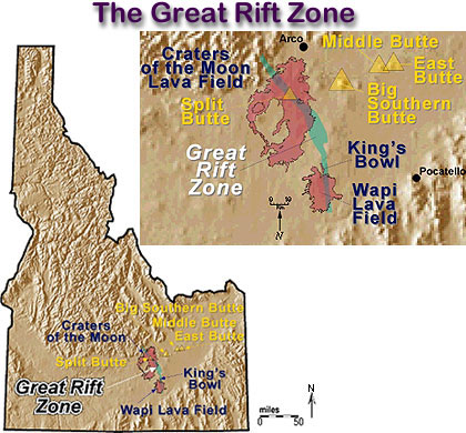 The Great Rift Zone on moon crater names map, craters of the moon idaho camping, craters of the moon monument, moon craters of the primary map, craters of the moon national park, craters of the moon volcano, macricostas preserve washington ct map, moon national monument map, craters of the moon id, craters of the moon idaho weather, city of rocks idaho map, the dark side of moon craters on the map, cinder book map,
