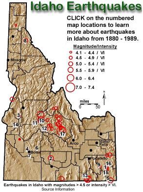 Idaho Earthquakes