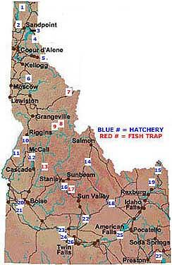 Hagerman Idaho Map.Idaho Fish Hatcheries