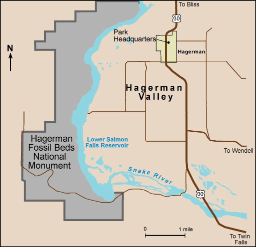 Hagerman Idaho Map.Paleontology Of The Hagerman Fossil Beds
