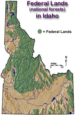 Lands In Idaho - Idaho public lands map