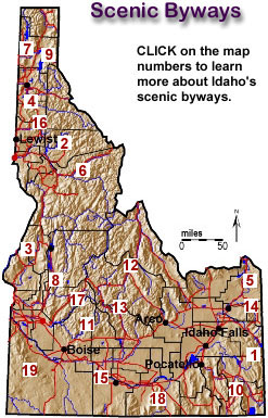 idaho scenic byways map Scenic Byways idaho scenic byways map