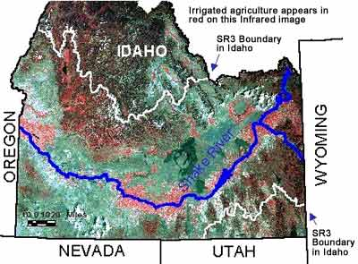 The Snake River Basin Physical Description - Physical map of idaho