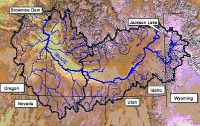 Hydrology Section - Snake river world map